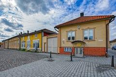 Cidade velha de Rauma, Finlandia fotografia de stock