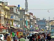 cidade velha de Rawalpindi, Paquistão fotografia de stock royalty free