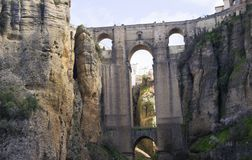 Cidade velha de Ronda na Andaluzia, Espanha imagem de stock royalty free