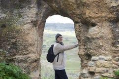Cidade velha de Ronda na Andaluzia, Espanha imagens de stock