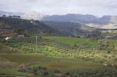 Cidade velha de Ronda na Andaluzia, Espanha fotos de stock