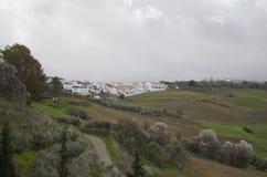 Cidade velha de Ronda na Andaluzia, Espanha fotos de stock royalty free