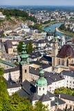 A cidade velha de Salzburg, Áustria Fotos de Stock