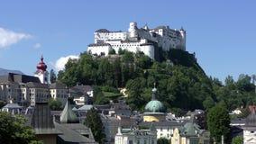 Cidade velha de Salzburg e de fortaleza Hohensalzburg filme