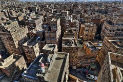 Cidade velha de Sana'a em HDR Imagem de Stock Royalty Free