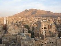 Cidade velha de Sana em Yemen fotografia de stock