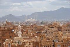 Cidade velha de Sanaa.The Imagem de Stock Royalty Free