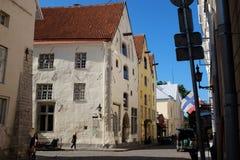 Cidade velha de Tallinn em Tallinn, Estônia Fotografia de Stock
