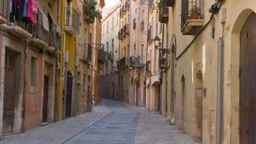 Cidade velha de Tarragona, Catalonia, Espanha filme
