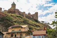 Cidade velha de Tbilisi, da capital de Geórgia fotografia de stock
