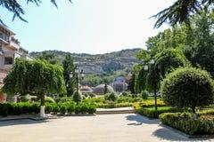 Cidade velha de Tbilisi, da capital de Geórgia imagens de stock