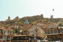 Cidade velha de Tbilisi, da capital de Geórgia Foto de Stock Royalty Free