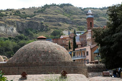 Cidade velha de Tbilisi, da capital de Geórgia Imagem de Stock