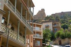 Cidade velha de Tbilisi, da capital de Ge?rgia imagem de stock royalty free