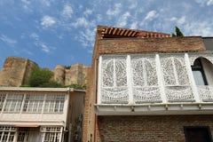 Cidade velha de Tbilisi, Geórgia Fotos de Stock Royalty Free