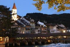 A cidade velha de Thun Fotografia de Stock