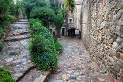Cidade velha de Tossa de Mar Imagens de Stock Royalty Free