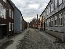 Cidade velha de Trondheim, Noruega Imagem de Stock Royalty Free
