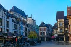 Cidade velha de Troyes fotos de stock