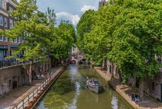 A cidade velha de Utrecht, Netherland foto de stock royalty free