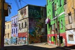 Cidade velha de Valparaiso no Chile fotos de stock
