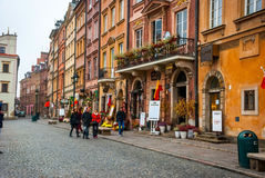 Cidade velha de Varsóvia, Polônia Imagens de Stock Royalty Free