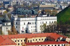 Cidade velha de Vilnius. Palácio dos duques grandes imagem de stock royalty free