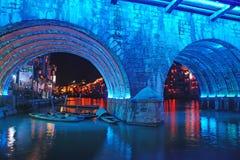Cidade velha de Zhenyuan na noite imagens de stock royalty free