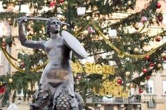 Cidade velha dentro Varsóvia-na lista do património mundial. Fotografia de Stock Royalty Free