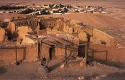 Cidade velha do adôbe do deserto Imagens de Stock Royalty Free