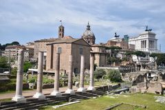 Cidade velha do castelo de Roma imagens de stock royalty free