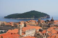 Cidade velha do console e do Dubrovnik Foto de Stock