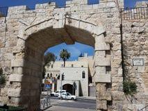 Cidade velha do Jerusalém novo da porta Imagem de Stock