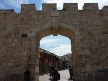 Cidade velha do Jerusalém novo da porta Imagens de Stock