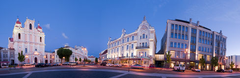 Cidade velha do panorama de Vilnius Imagens de Stock Royalty Free