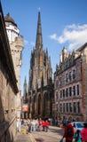 Cidade velha Edimburgo Escócia Reino Unido da milha real Fotografia de Stock Royalty Free