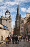 Cidade velha Edimburgo Escócia Reino Unido da milha real Imagem de Stock