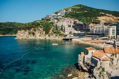 Cidade velha em Budva em Montenegro, verão Imagens de Stock
