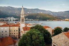 Cidade velha em Budva em Montenegro, verão Imagem de Stock Royalty Free