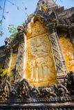 Cidade velha em Camboja Um fragmento da decoração Fotografia de Stock