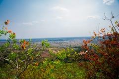 Cidade velha em Camboja Vista do voo do pássaro Imagem de Stock Royalty Free