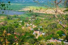 Cidade velha em Camboja Vista do voo do pássaro Fotografia de Stock Royalty Free