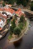 Cidade velha em Cesky Krumlov, República Checa, Czechia, herança Imagens de Stock Royalty Free