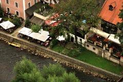 Cidade velha em Cesky Krumlov, República Checa, Czechia, herança Fotos de Stock