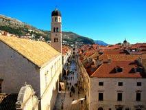 Cidade velha em Dubrovnik Fotos de Stock Royalty Free