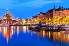 Cidade velha em Helsínquia, Finlandia Fotografia de Stock Royalty Free