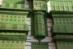 Cidade velha em Jeddah, Arábia Saudita conhecida como o ` histórico de Jeddah do ` Construções e estradas velhas e da herança em  foto de stock