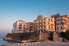 Cidade velha em Kerkyra imagem de stock