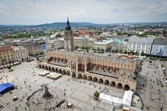 Cidade velha em Krakow, Poland fotografia de stock royalty free