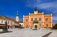 Cidade velha em Novi Sad - Sérvia foto de stock